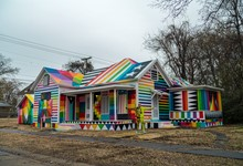 The Rainbow Embassy by Okuda San Miguel