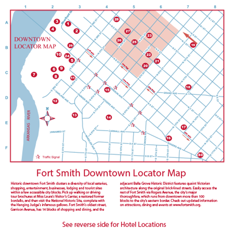 Downtown Locator Map